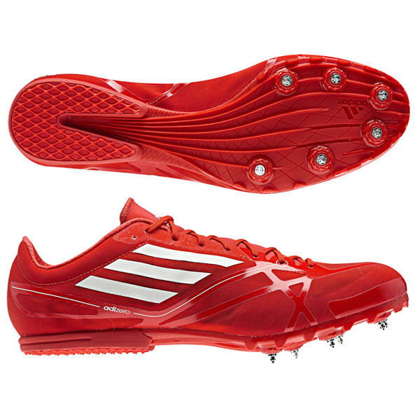 Adidas Adizero MD Chaussures spikes athlétisme rouge-blanc jogging + spikes Chaussures neuf unisexe- 14694a