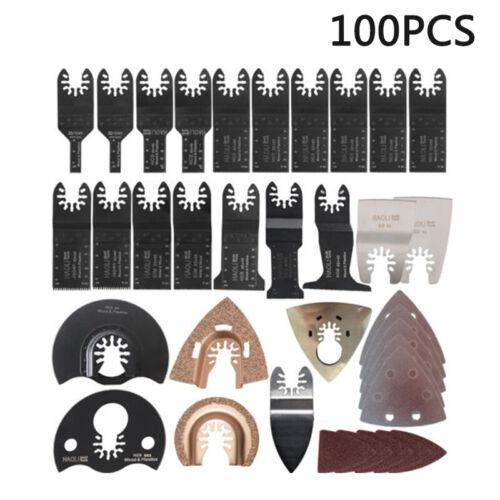 100 Pièces Kit De Lame De Scie Multi-outil Oscillante Mixte Pour Black /& Decker