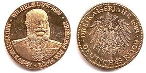 Medaille Wilhelm I Deutscher Kaiser König Von Preussen