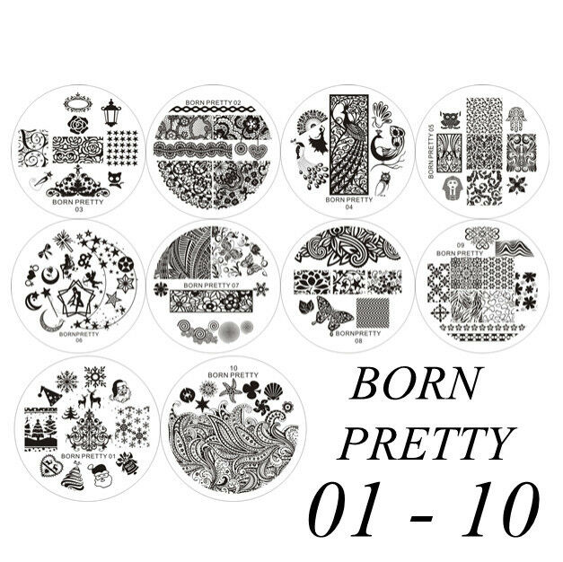 BORN PRETTY #01-50 Nail Art Stamp Stamping Image Template Plates Nail Art Tool