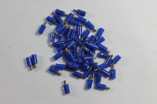 Modellbahn Querlochstecker  2,6mm; blau;  neu; 60 Stück; 0,249€ Stk