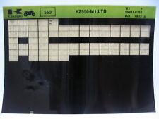 Kawasaki KZ550 M1 LTD 1983 Parts Microfiche NOS k349
