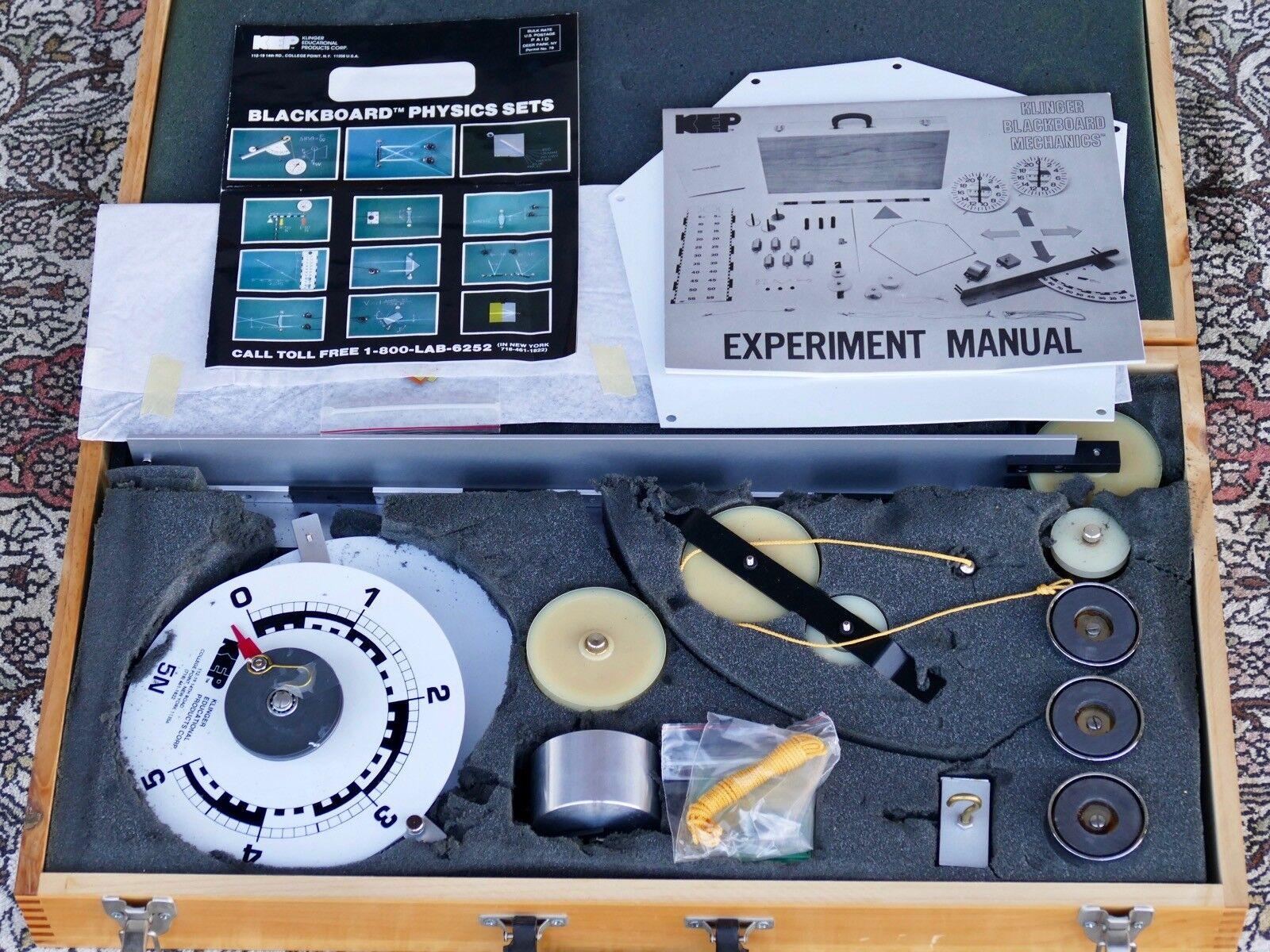 Productos educativos Klinger KM-1500 Conjunto De Física Mecánica negroboard magnético
