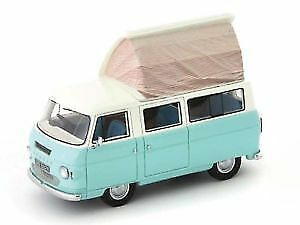 Commer Dormobile Coaster 1972 Pastel Light azul   Cream 1 43 Model AUTOCULT