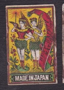 Ancienne étiquette  Allumettes Japon BN121519 Femme Ange