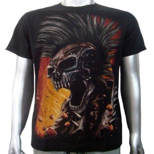 Punk Rock Skull American Harley OCC Chopper Biker Tee Tattoo Mens T-shirt M /& L