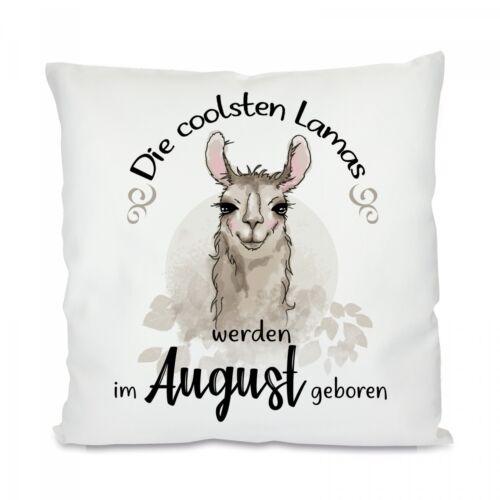 Herzbotschaft ® Coussin avec motif Modèle les plus cool lamas