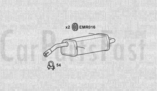 EXFD6340 EXHAUST SILENCER TAIL PIPE 3Yr Warranty