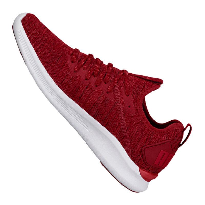 PUMA Ignite Ignite Ignite Flash evoKNIT Sneaker Rot F01 3d8845