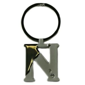 Alphabet-Initial-Key-Ring-With-Crystal-Inserts-Letter-N