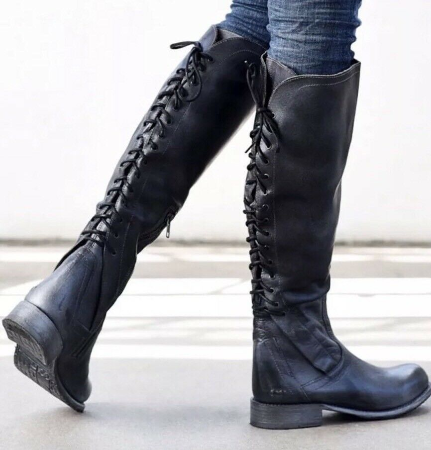 New Bed Stu Surrey Cobbler Series Tall Tall Tall Knee High Campus Womens Boots Size 7 534e0b