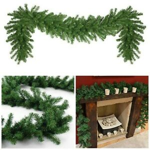 Artificial-Pine-GREEN-Spruce-Christmas-Garland-2-7-meters-9ft-x-28cm