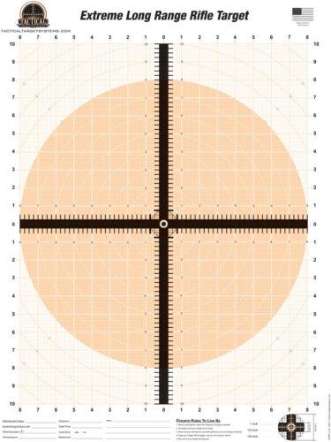 Extreme Long-Range Rifle 25 Paper Shooting targets Fluorescent Orange Hunting