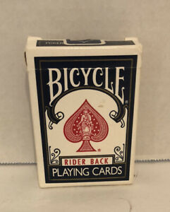 Vtg-BICYCLE-Rider-Back-Playing-Cards-Blue-808-Poker-OHIO-USA-Complete-Set