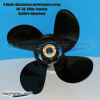 For YAMAHA 4 Blade 10 3//8 x 13 Propeller 40-50-60HP Performance Aluminium Prop