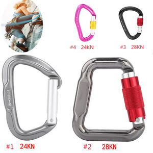 28KN-Ideal-Aluminum-Carabiner-D-Ring-Key-Chain-Keychain-Clip-Hook-Outdoor-Buckle
