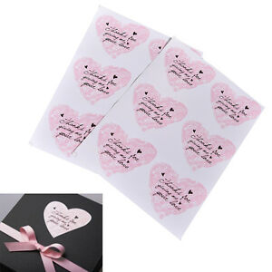 Pink-Heart-shaped-For-Thank-You-Packaging-Stickers-Stickers-for-Wedding-JR