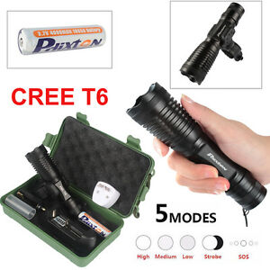 20000LM-XML-T6-LED-Lampe-Tactical-Police-18650-Rechargeable-Flashlight-Batterie