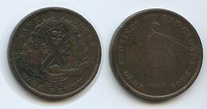 T266 - Kanada Lower Canada 2 Sous - One Penny 1837 Km#tn#11 Bank Token Canada