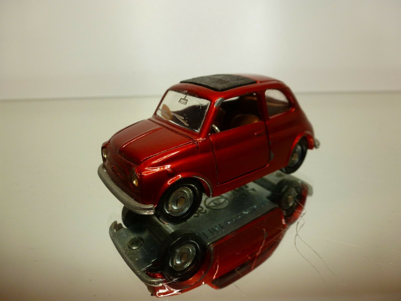 MEBETOYS  1 43  - FIAT 500   A-36   ABARTH RED  - VERY RARE  - GOOD CONDITION