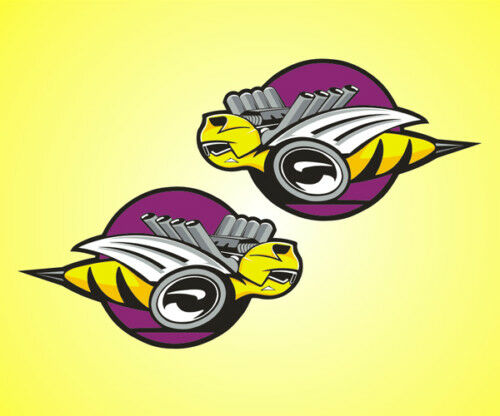 """2 Bee 8/"""" x 14/"""" Emblem Decals Stickers Pair Large Vinyl race decal"""