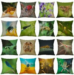Insects-Printing-Cotton-Linen-Spider-Pillow-Case-Dragonfly-Gifts-Decor-Home