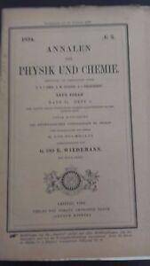 Rivista-Beiblatter-N-3-Zu-Den-Annalen-Der-Physik-Und-Chemie-1894-Lipsia-Verlag
