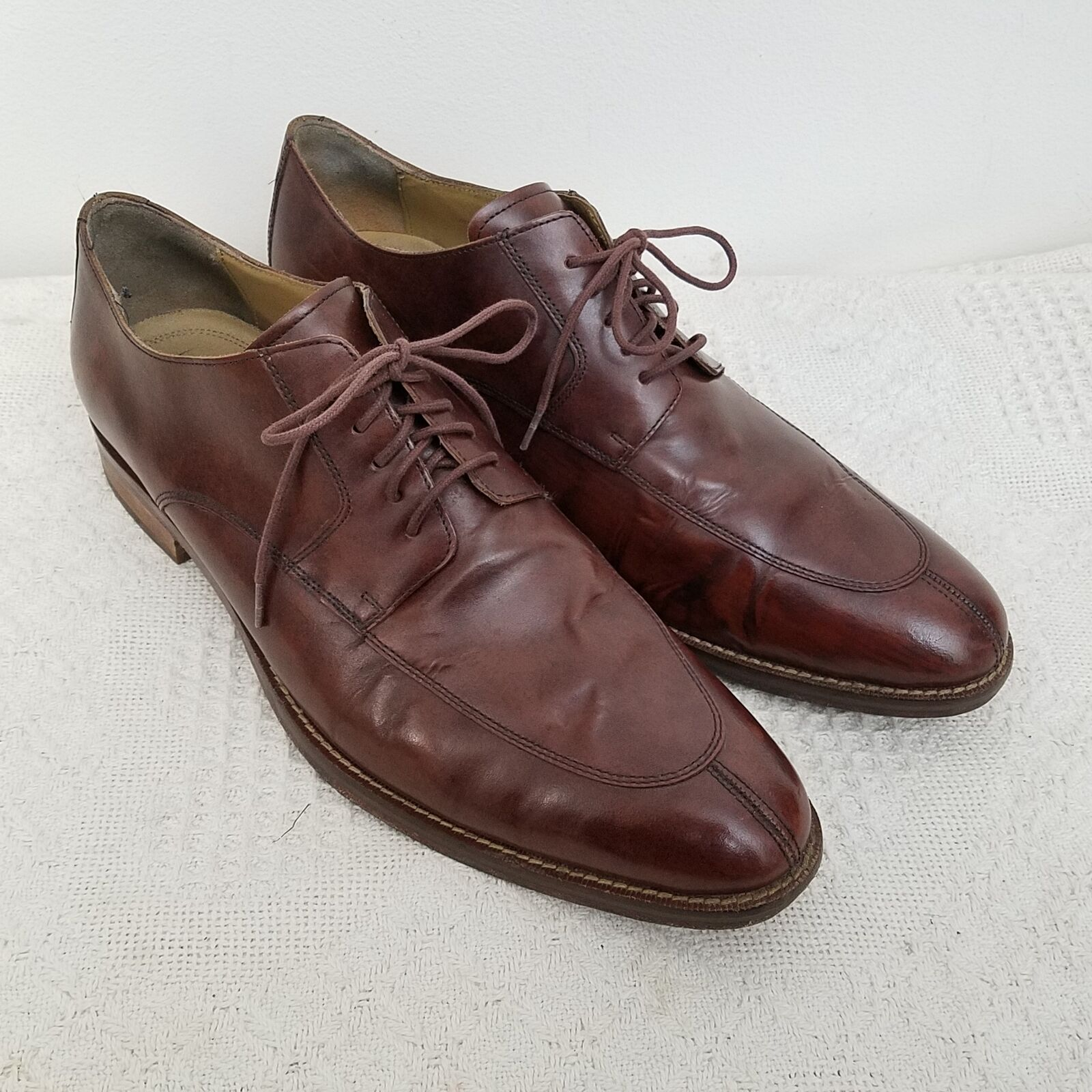 Cole Haan Grand OS Madison 11.5 Split Toe Oxford Brown Leather Upper Lace Up