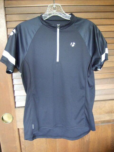 Bontrager Jersey Cycling Shirt 1/3 Zip Black Women Size M Pockets