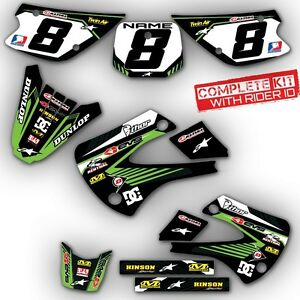 2000 2014 kx 65 graphics kit kawasaki kx65 deco motocross dirt bike mx decals ebay. Black Bedroom Furniture Sets. Home Design Ideas