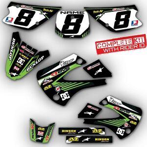2000 2014 kx 65 graphics kit kawasaki kx65 deco motocross dirt bike mx decals ebay. Black Bedroom Furniture Sets. Home Design Ideas