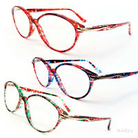 Cat Eye Colorful Tortoise Hipster Women's Reading Glasses 150-350
