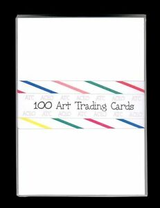 100 BLANK WHITE ACEO ATC ARTIST TRADING CARDS ~ DRAWING COLLAGE