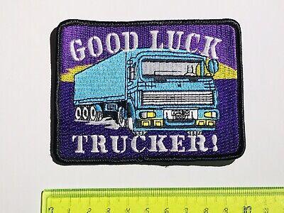 .aufnäher Patch - Good Luck Trucker ! BerüHmt FüR Hochwertige Rohstoffe, Umfassende Spezifikationen Und GrößEn Sowie GroßE Auswahl An Designs Und Farben