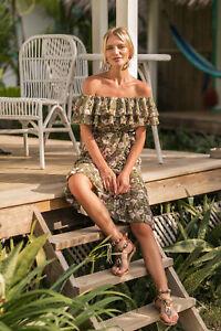 Summer-Women-Sexy-Off-Shoulder-Flower-Boho-Dress-Casual-Chiffon-Beach-Dresses
