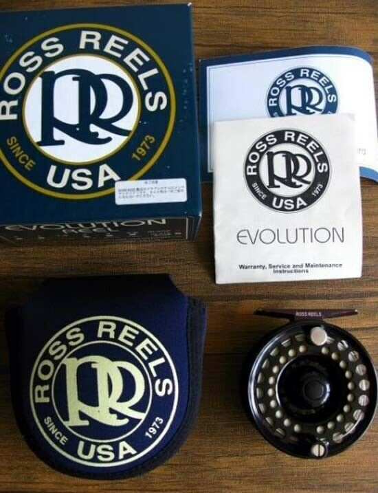 ROSS Evolution 1.5 30TH Fly fishing reel with box, bag Very Good Condition F/S