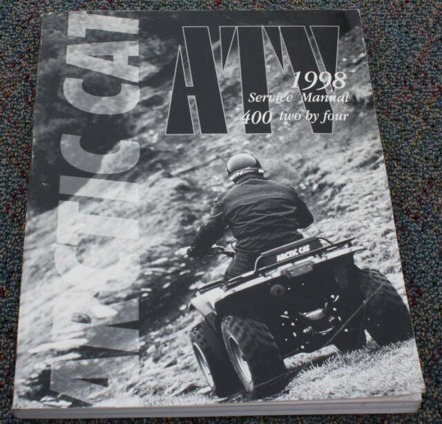 1998 Arctic Cat Atv 400cc 2x4 2wd Factory Service Repair