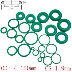 10 pcs Green Viton FKM Fluorine Rubber O Ring Oil Resistant Sealing CS1.9mm