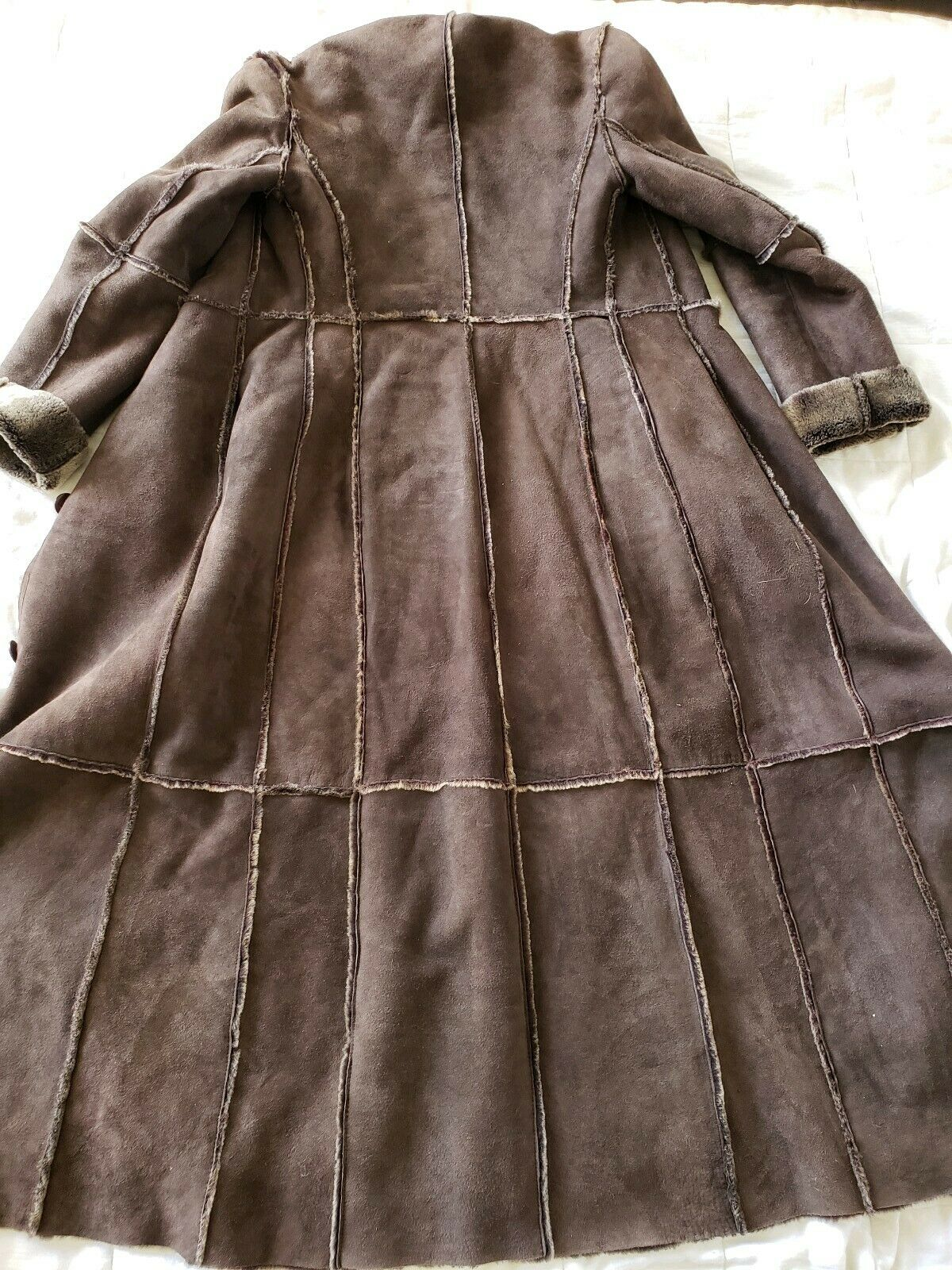 Workshop NY full length shearling coat lightweigh… - image 6