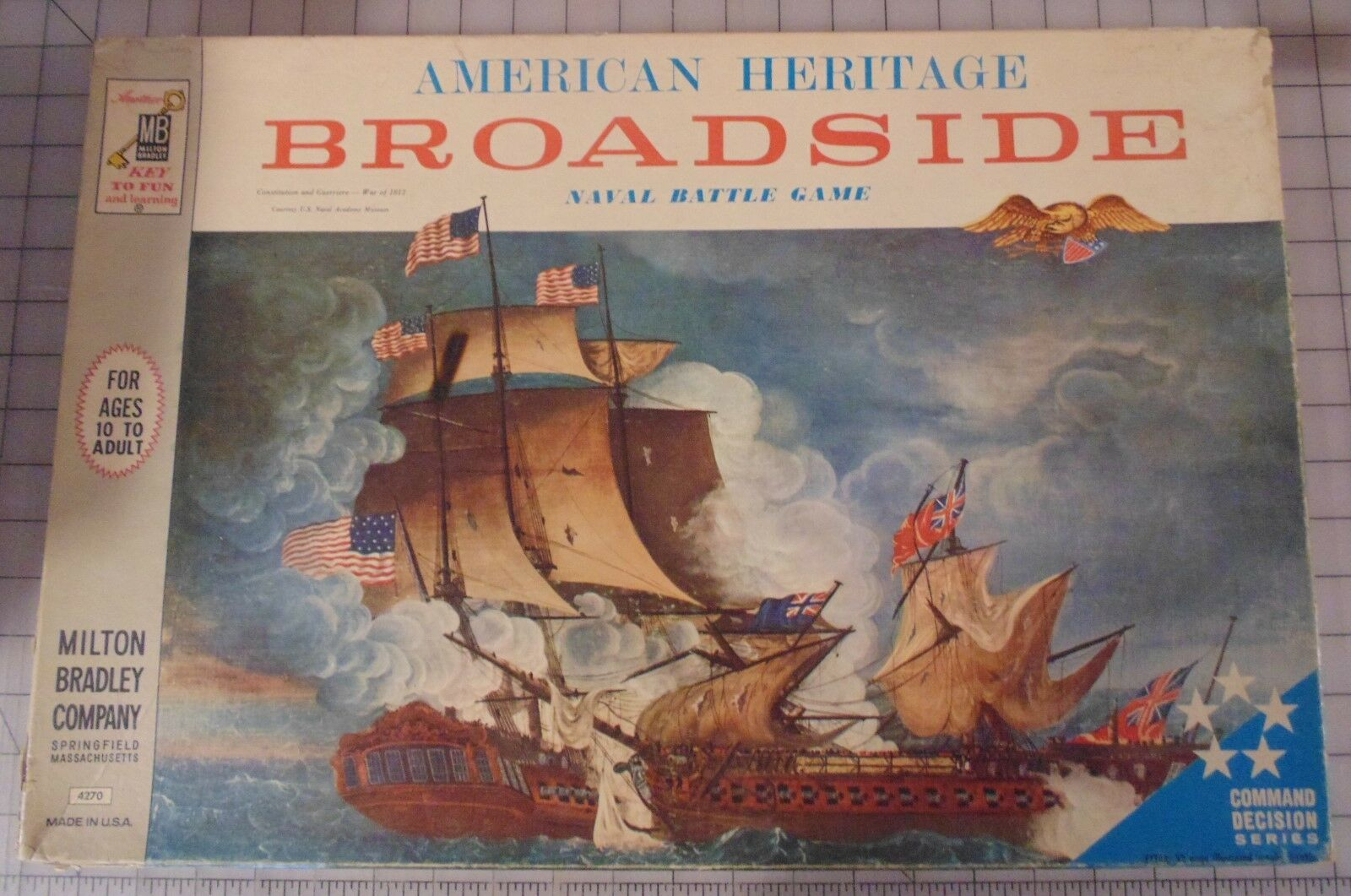 Vintage American Heritage Broadside Naval Battle Board Game 1962 MB