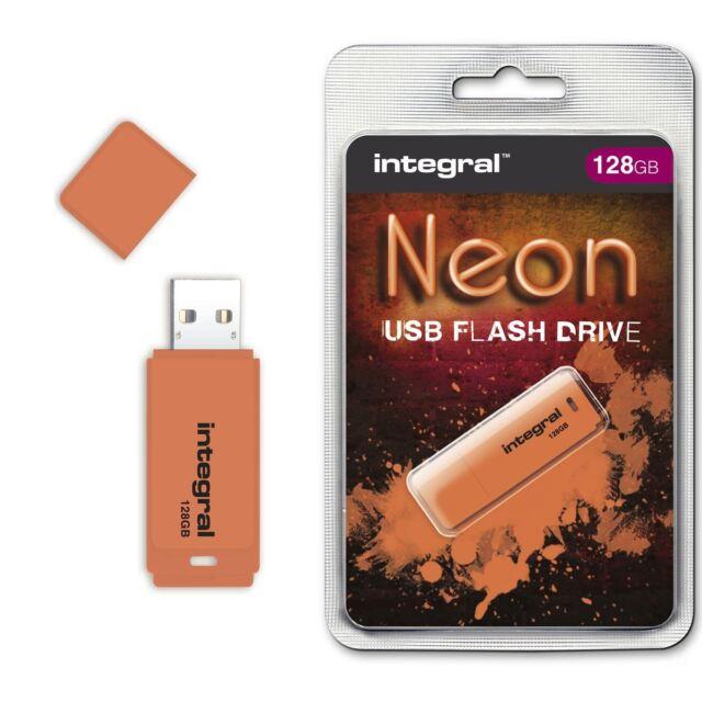 Integral 128GB Neon Flash Drive USB IN ARANCIO, UN Accessori SHOW PREMIO WINNER