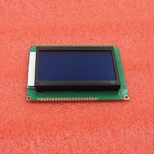 128x64 Graphic LCD Blue Backlight for EasyPIC5 KS0108