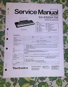 TECHNICS SXK700 / SXK-700 REPAIR / SERVICE MANUAL - Booklet