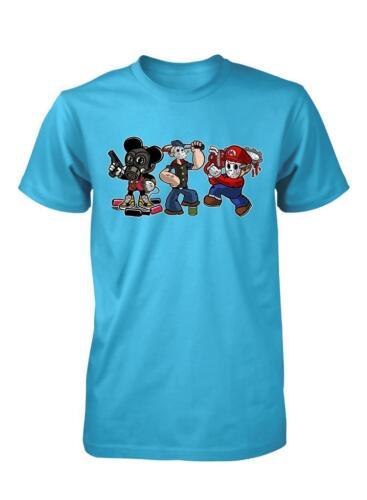 BNWT Cartoon tueurs Mickey Mario popeye adultes T-Shirt S-XXL