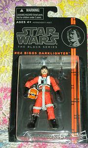 "Star Wars Black Series #04 BIGGS DARKLIGHTER Loose 3.75/"" Figure Hasbro 2013"