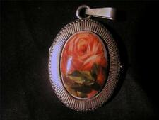 Beautiful Vintage Modernist Norway Solid Silver H.C.Ostrem Rose Locket,