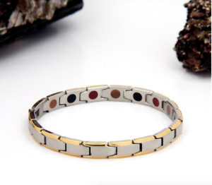 Authentic-Pur-life-Negative-Ion-Bracelet-ELEGANT-BRUSHED-STAINLESS-GOLD-BALANCE