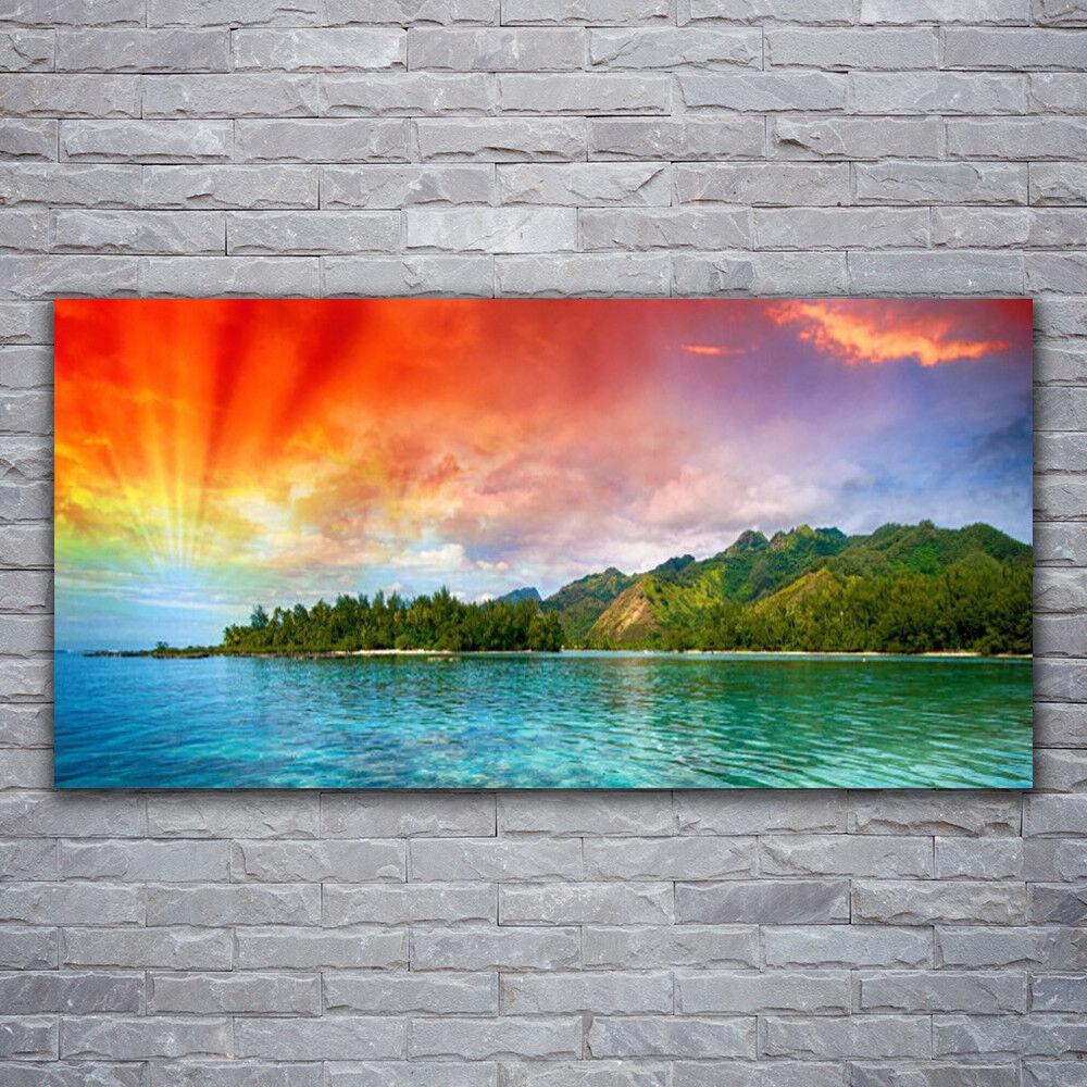 Acrylglasbilder Wandbilder aus Plexiglas® 120x60 Meer Wald Landschaft