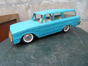 Ancien Jouet Tole Tin Toys American Car Station Wagon 50.60 Buddy L Illinois Usa
