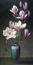 "VLADIMIR TRETCHIKOFF ""Pink Magnolias"" flowers vase SIZE:102cm x 56cm NEW print"
